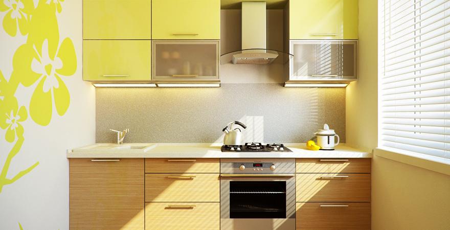 Растительные орнаменты на обоях на кухне в эко-стиле