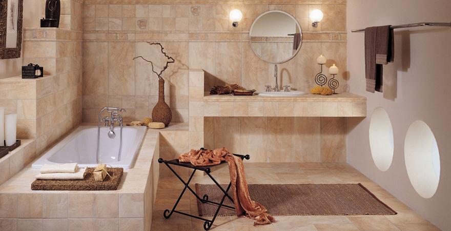 Плитка в ванной в средиземноморском стиле