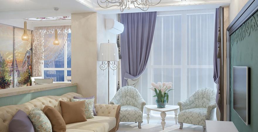 Ремонт трехкомнатной квартиры в стиле прованс