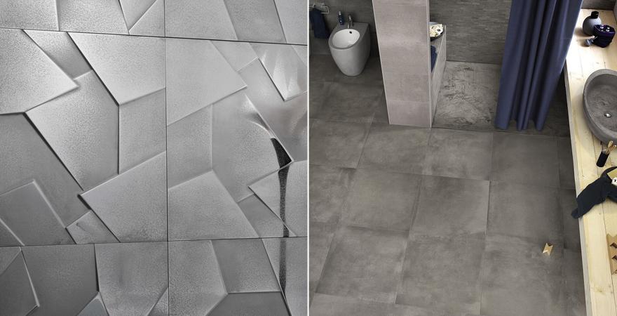 плитка под металл и плитка под бетон