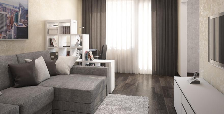 Ремонт трехкомнатной квартиры в стиле минимализм