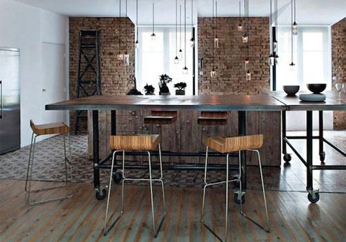 Дизайн интерьера кухни в индустриальном стиле