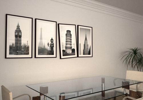 Как декорировать интерьер картинами