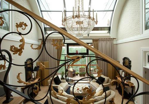 Металлические кованые лестницы в интерьере