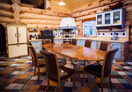 Дизайн интерьера гостиной в рустикальном стиле
