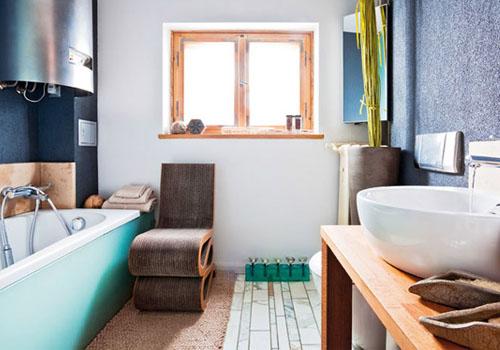 Ванная без плитки: альтернативные материалы для отделки