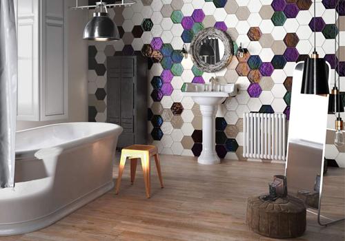 Облицовка ванной комнаты керамической плиткой: недорого и красиво