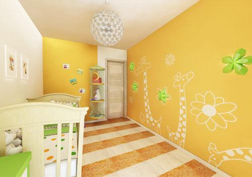 Как правильно использовать желтый цвет в интерьере детской